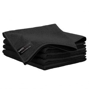 Black Microfiber Cloths