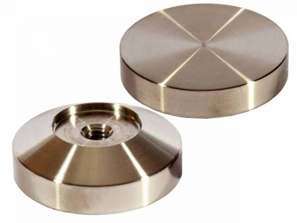 53mm Flat Stainless Coffee Tamper Base - Reg Barber-0