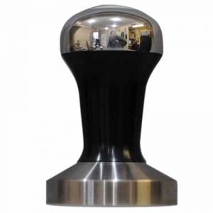 Black Polished Hybrid Coffee Tamper Set 58mm Stainless Steel Base - Reg Barber-0