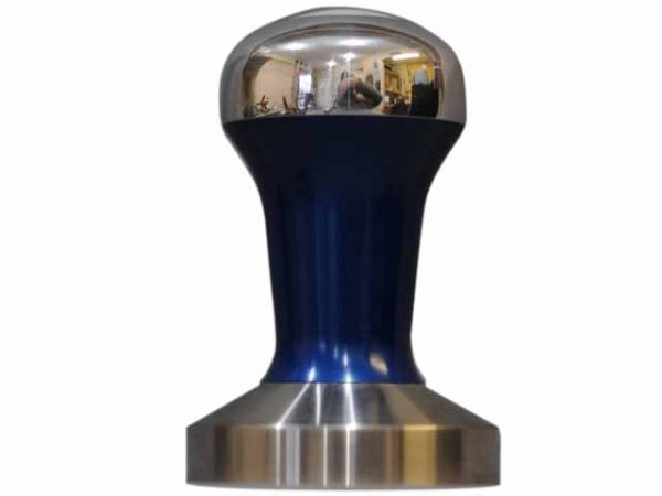 Blue Polished Hybrid Coffee Tamper Set 58mm Stainless Steel Base - Reg Barber-0
