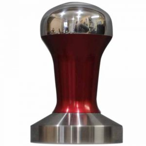 Red Polished Hybrid Coffee Tamper Set 58mm Stainless Steel Base - Reg Barber-0
