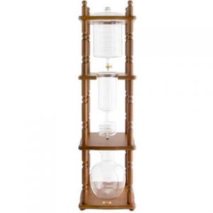 25 Cup Brown Wood Frame Cold Drip Coffee Tower Yama-0