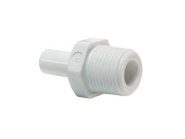 Stem Male Adaptor 3/8 OD 3/8 Thread - John Guest-0