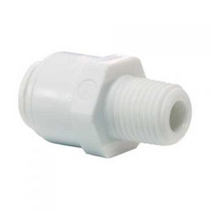 "Straight Adaptor 1/4"" Push Fit to 1/2"" Thread - John Guest-0"