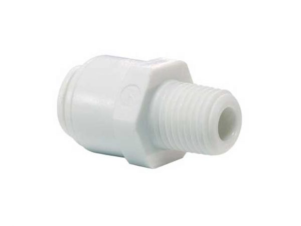Buy Online Straight Adaptor 1/4 Push Fit to 1/2 Thread John Guest