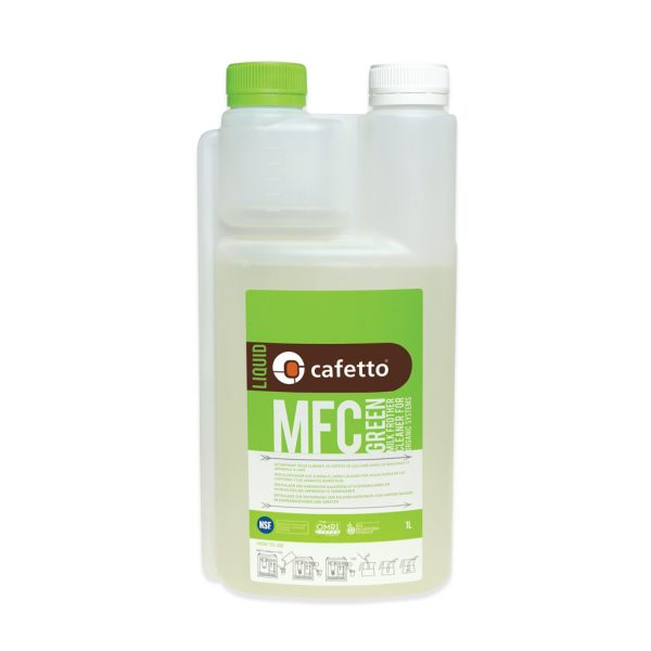 Buy Online Milk Frother Cleaner Green 1 Litre Cafetto