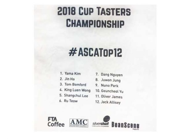 ASCA Top 12 Cup Tasters Championship T-Shirt-3308