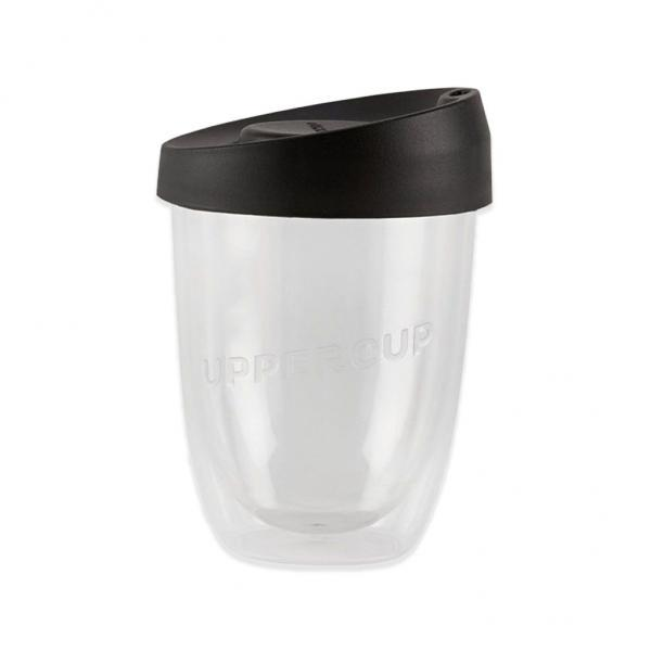 Buy Clear Uppercup with Black Lid in 12oz Online