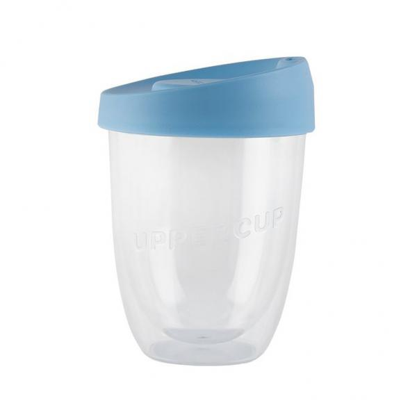 Buy Clear Uppercup with Blue Lid in 12oz Online