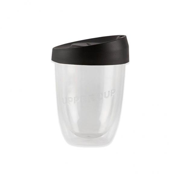 Buy Clear Uppercup with Black Lid in 8oz Online