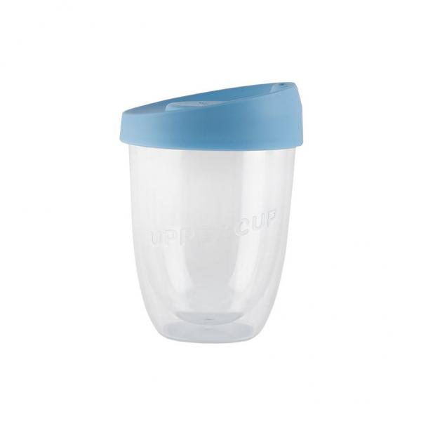Buy Clear Uppercup with Blue Lid in 8oz Online