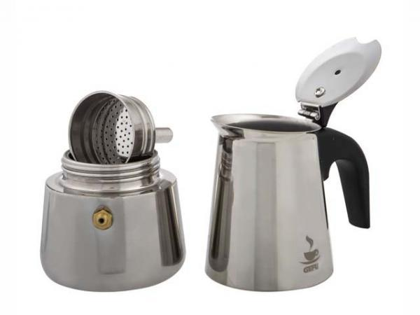 6 Cup Emillo Stainless Steel Espresso Maker-3592