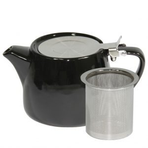 Black Stackable Teapot