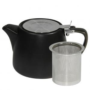 Buy Matt Black Stackable Infusion Teapot in 500ml