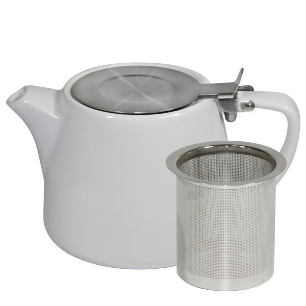 White Stackable Teapot