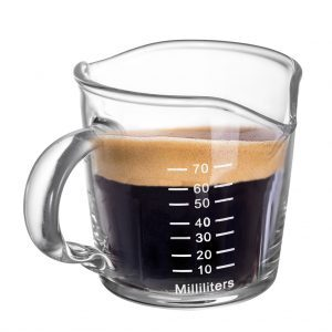 Buy Double Spout Espresso Measure Glass 70ml