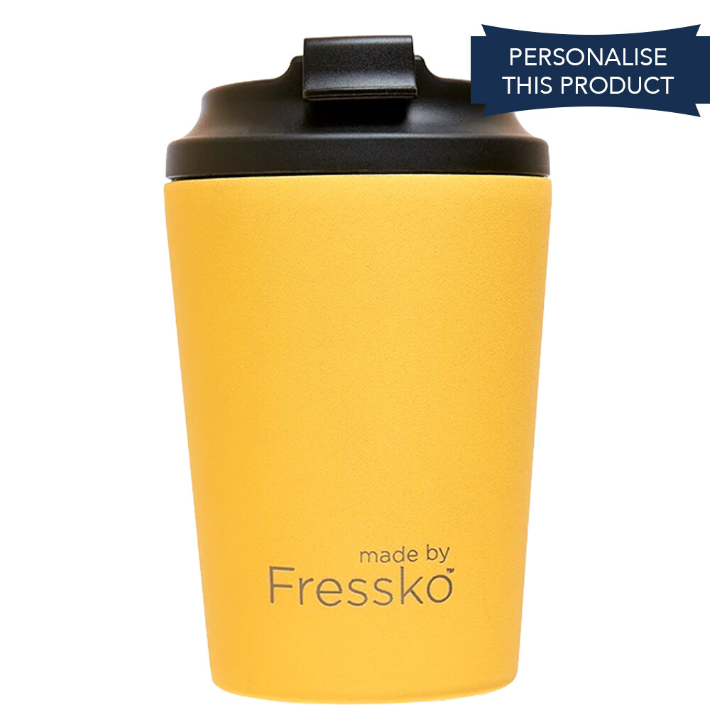Fressko 12oz Canary Yellow Reusable Cup