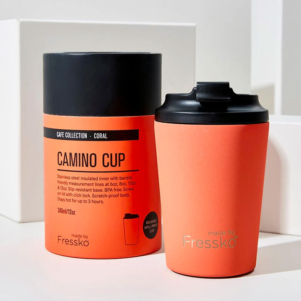 Fressko 12oz Coral Red Reusable Cup