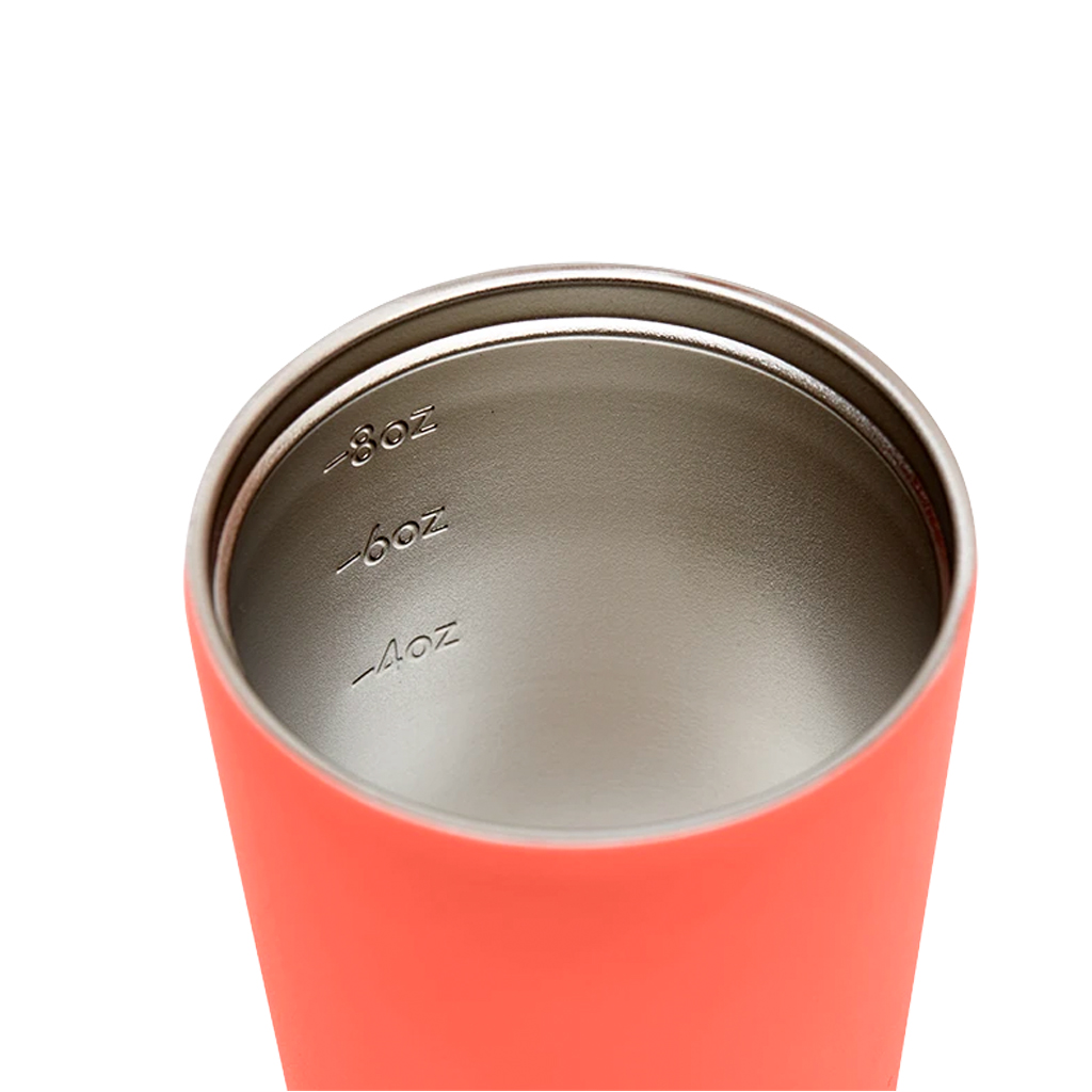 Fressko 8oz Coral Red Resuable Coffee Cup